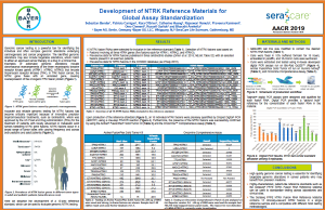 Development of NTRK Reference Materials for Global Assay Standardization
